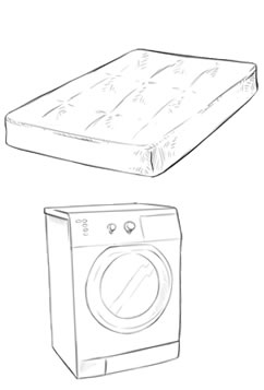 mattresses and washing machines clearance